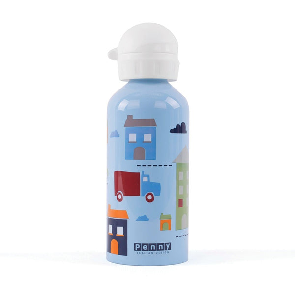 penny-scallan-traffic-cars-drink-bottle-in-blue