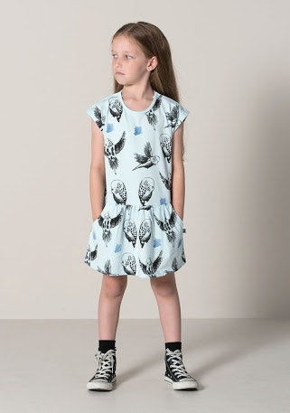 Budgies Domed Up Dress in blue