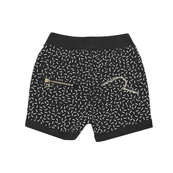 ROck your  baby BABY  Memphis Track Shorts in black