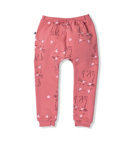 Littlehorn Kitty Sweatpant - Dark Pink in pink