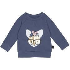 hux-flower-fox-sweat-shirt-in-blue