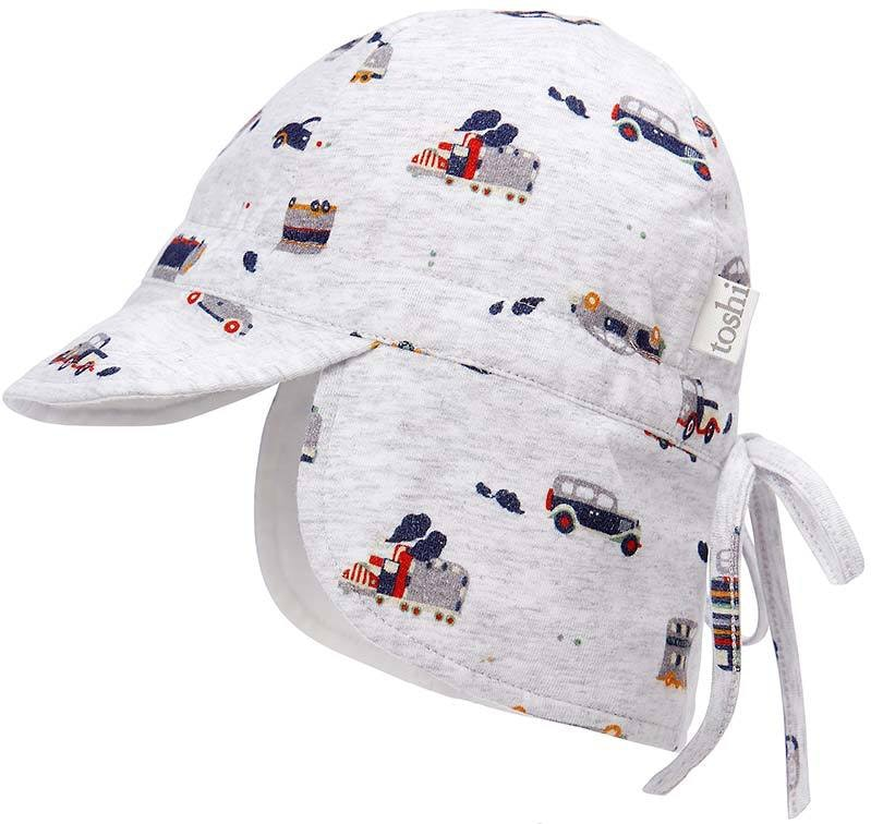 toshi-flap-cap-bambini-toot-toot-in-multi colour print