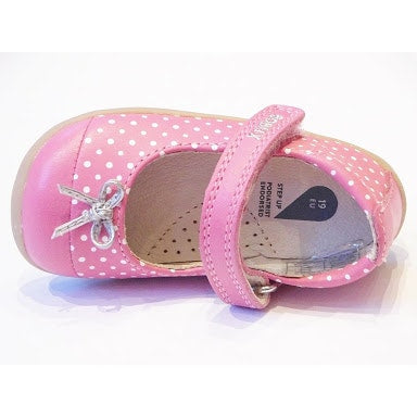 Step Up Swing Ballet Peony/White Dots in pink