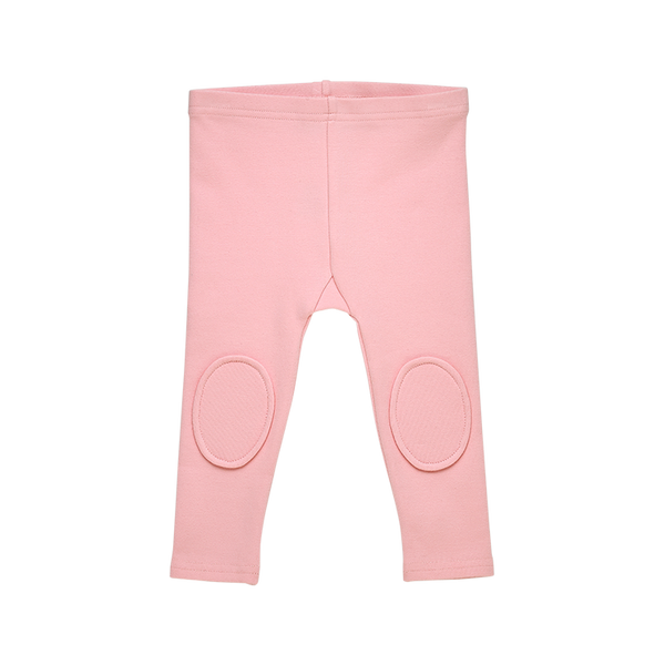 rock your baby knee patch baby tights in pink brushed cotton BGL204-PI front