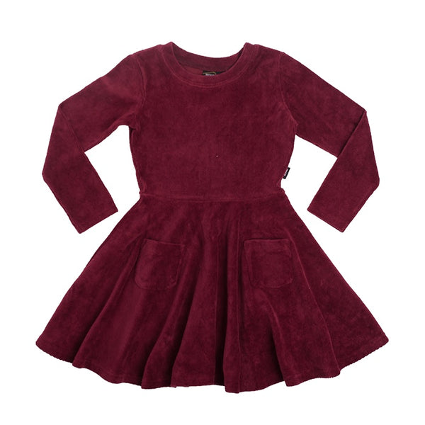 corduroy-l-s-waisted-dress---burgundy-in-colour