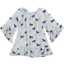frilled-coverup-spring-horse-in-multi colour print