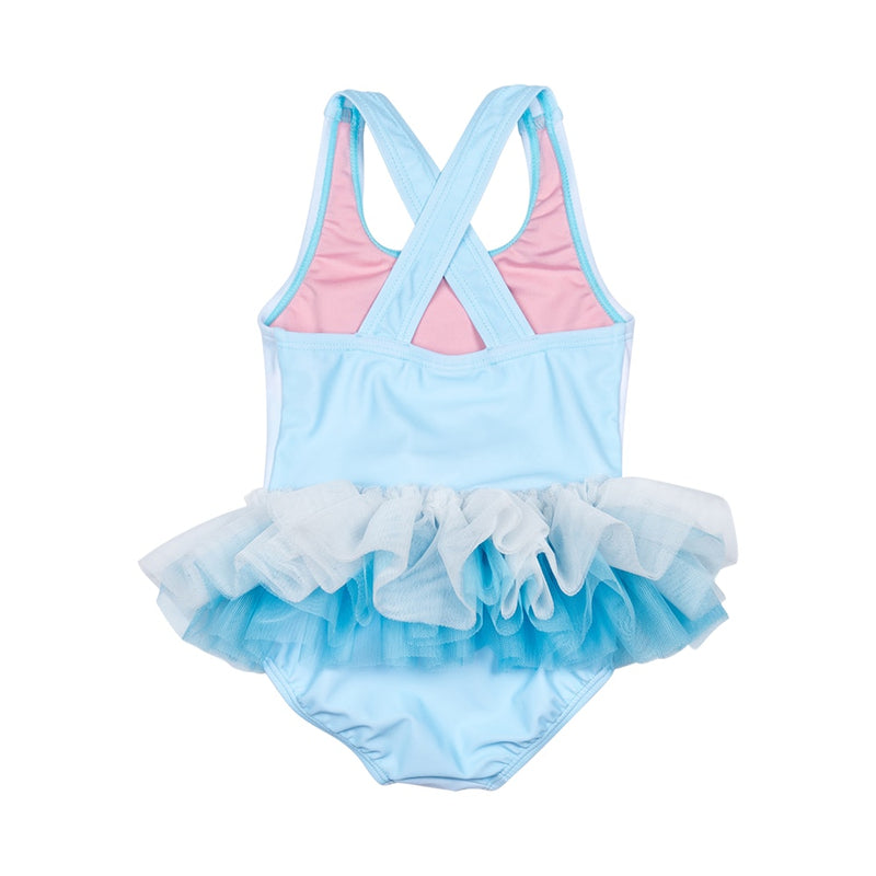 Doe a Deer Baby Tulle One Piece in multi colour print