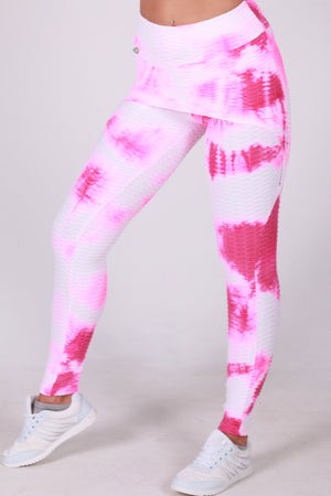 Stained pink skirt legging