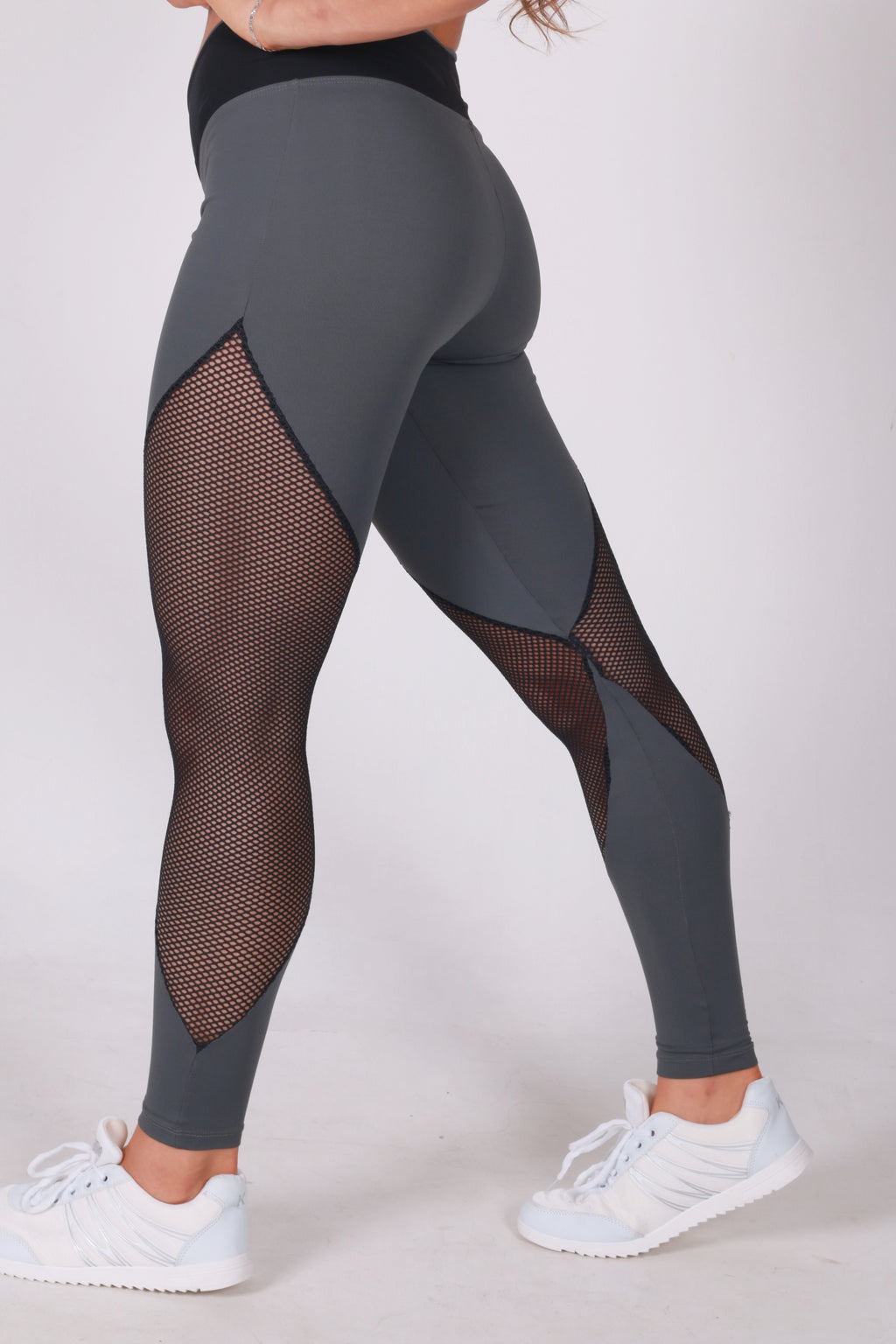 Lovely grey legging with Net