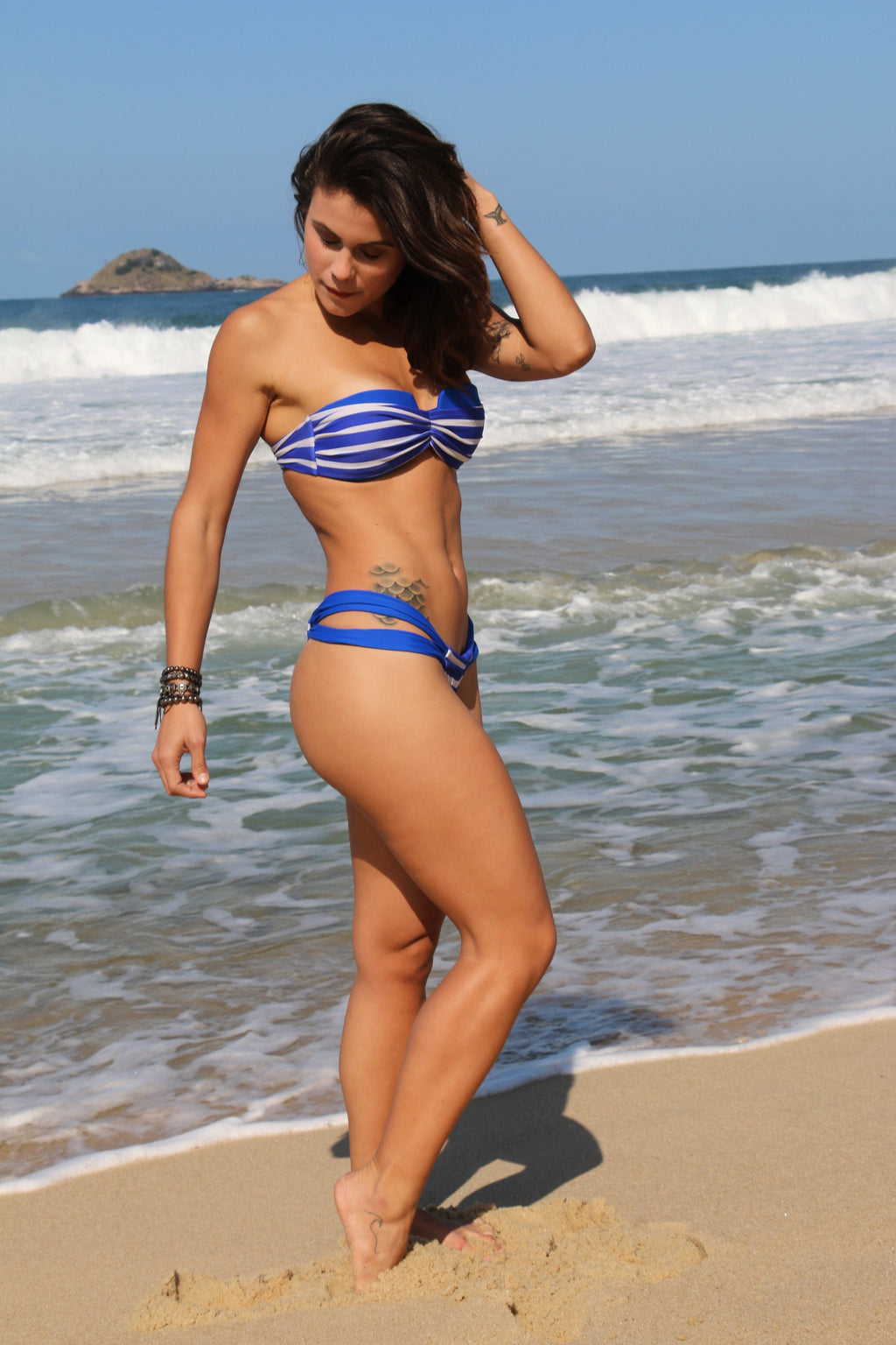 Hot blue Brazilian Bikini