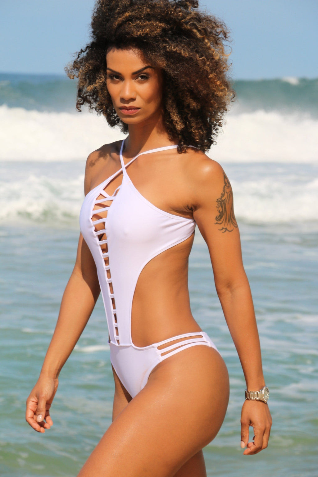 White Elegant Swimsuit