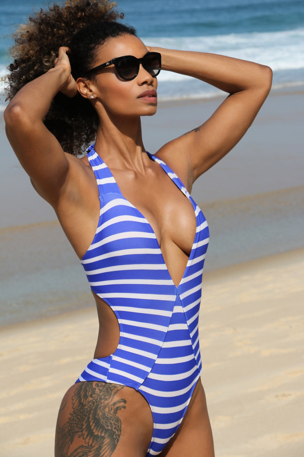 Gorgeous striped swimsuit