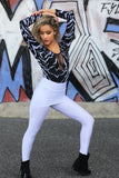 Skirt leggings of Lycra - White