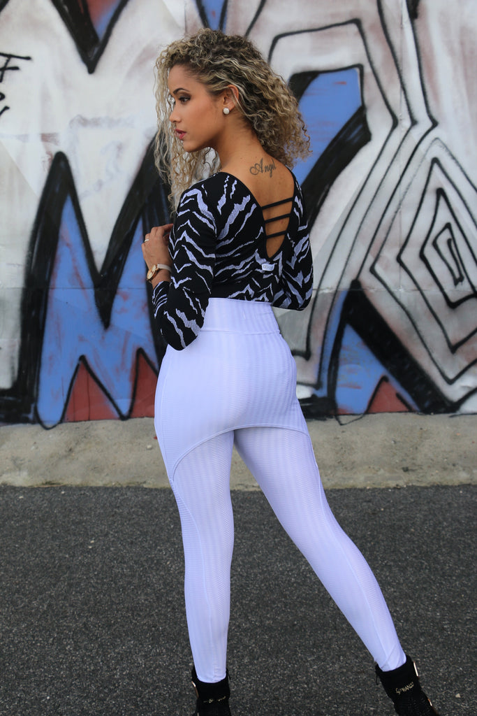 Skirt White legging with shiny wire