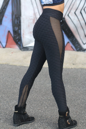 Sexy anti cellulite black legging with nice lateral detail
