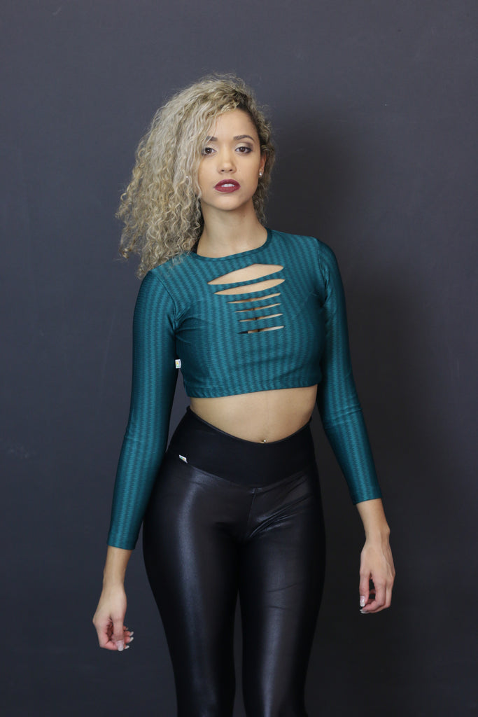 Top Phoenix of Lycra - green