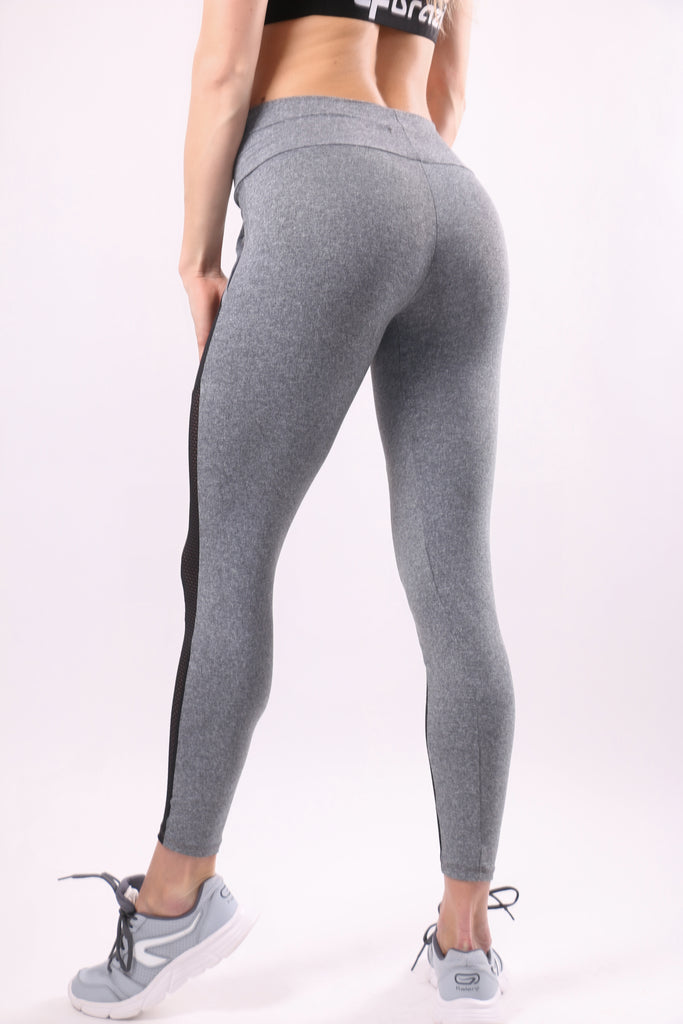 Leggings Magic with pockets of net - Grey & black
