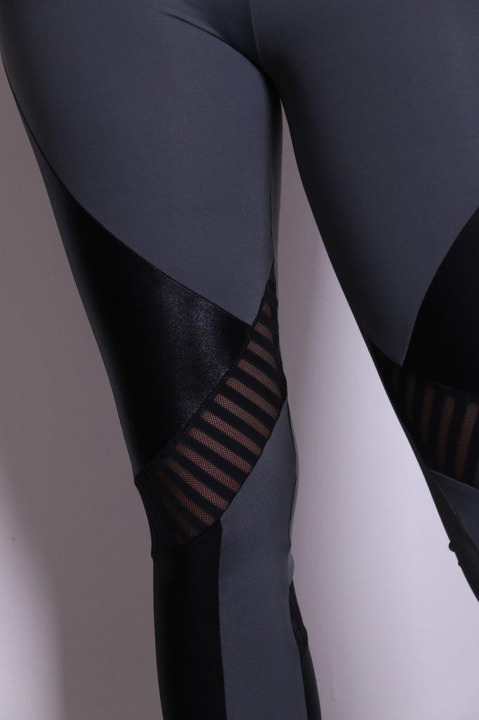 Leggings Roxy - Grey & Black cirre