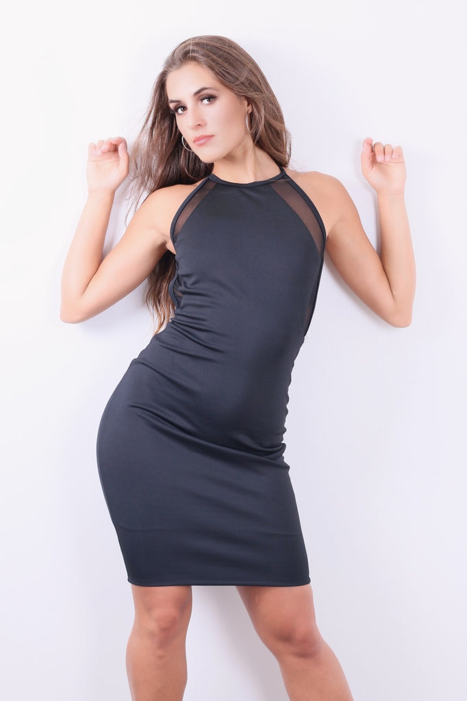 Casual and hot Black Dress backless