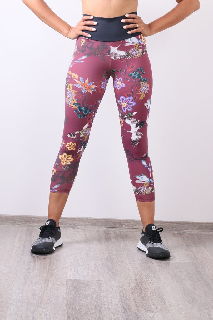 Versatil 3/4 Legging in Geisha print