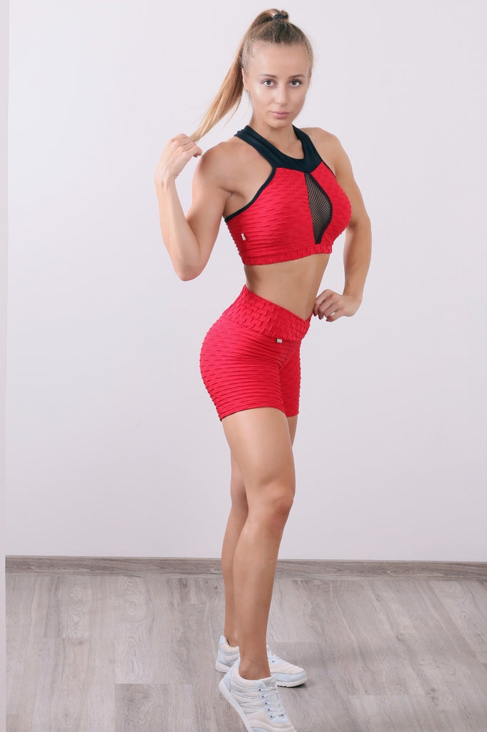 Gorgeous red Set with Short and Top