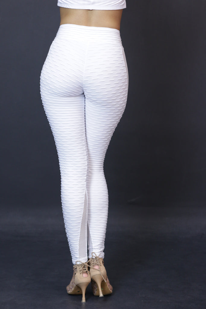 Absolute Anti-cellulite Leggings with net - White