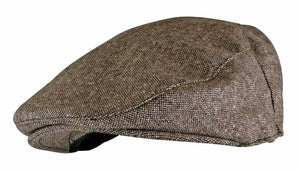 Mens Wool Blend Flat Cap - Grandad shirt club