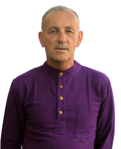 Banke.B Collarless Shirt – Purple.  EXPRESS DELIVERY freeshipping - Grandad shirt club