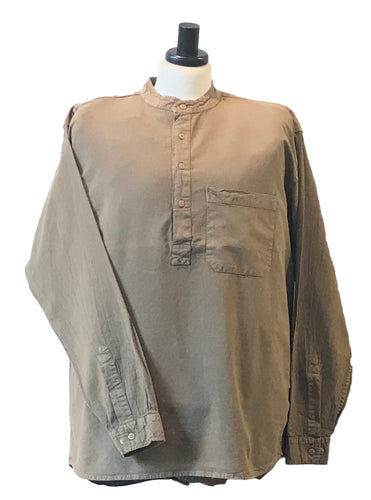 Half Button Grandad Collar Shirt – Multiple Colors & Sizes - Grandad shirt club