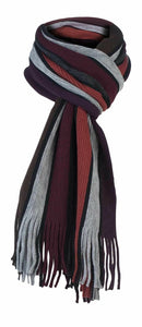 Mens Knitted Striped Winter Scarf - Grandad shirt club