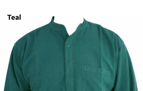 Teal Grandad shirt/100 percent cotton freeshipping - Grandad shirt club