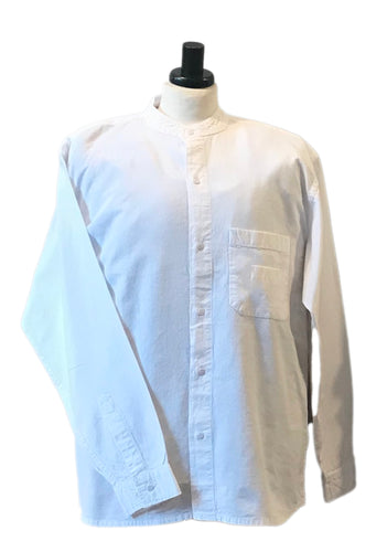 WHITE Grandad shirt from the collarless grandad shirt company. Our best selling shirt. freeshipping - Grandad shirt club