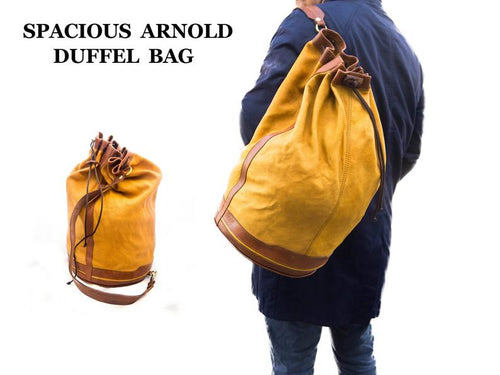 ARNOLD DUFFEL BAG/MADE IN UK - Grandad shirt club