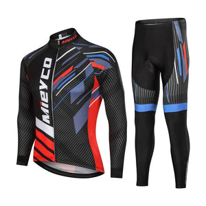 Men Long Sleeves Cycling clothing Jersey Set Cycling Maillot Sport Uniform MTB Bicycle Clothes Tight Jacket Men Cycle Clothes - Grandad shirt club