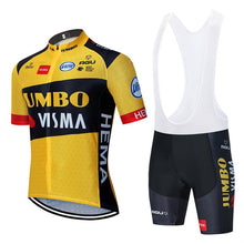 Load image into Gallery viewer, 2020 new JUMBO VISMA cycling TEAM jersey 20D bike shorts suit Ropa Ciclismo mens summer PRO bicycle Maillot Pants clothing - Grandad shirt club