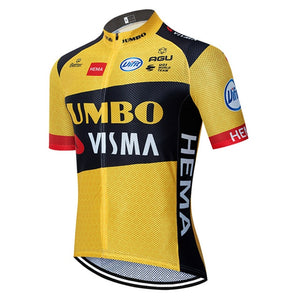2020 new JUMBO VISMA cycling TEAM jersey 20D bike shorts suit Ropa Ciclismo mens summer PRO bicycle Maillot Pants clothing freeshipping - Grandad shirt club