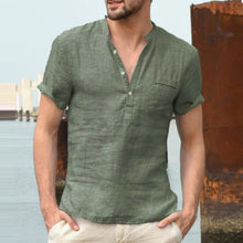 Load image into Gallery viewer, Cotton linen shirt - Grandad shirt club