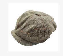 Load image into Gallery viewer, 2019 Fashion Unisex Women Men's Tweed Herringbone Newsboy Cap Cabbie Unisex Peaky Blinders Baker Women cap Hat men Winter hat freeshipping - Grandad shirt club