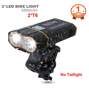 6000LM Bicycle Light 2x XML-L2 LED Bike Light With USB Rechargeable Battery Cycling Front Light +Handlebar Mount - Grandad shirt club
