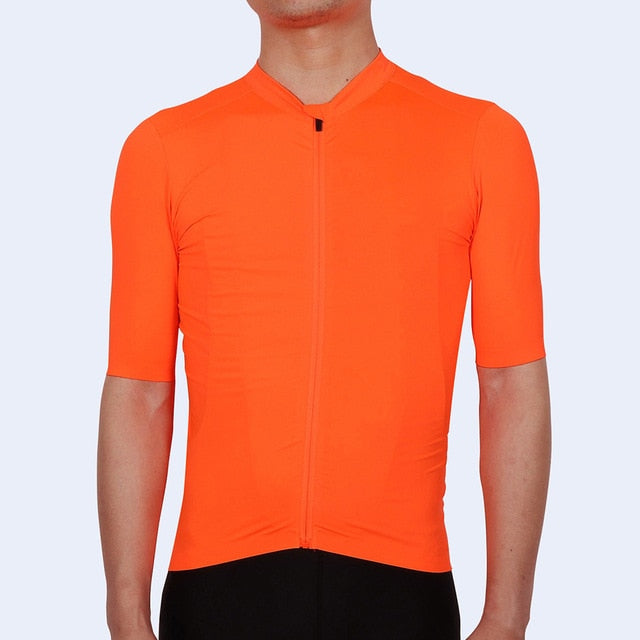 SPEXCEL 2019 upadte Bright Orange Top Quality Short sleeve cycling jersey pro team aero cut with last Seamless process road mtb - Grandad shirt club