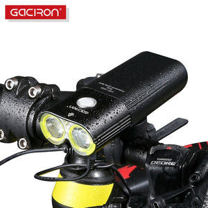 GACIRON Mountain/Speed Bike Light Front 1600 Lumens Bicycle Light Power Bank LED Waterproof USB Rechargeable Cycling Light Set - Grandad shirt club