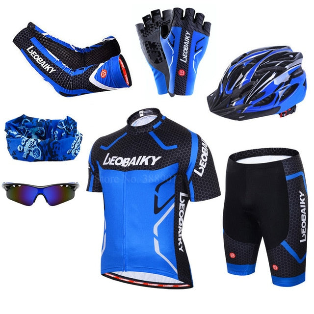 Breathable Pro Team Cycling Jersey Set Men Bicycle Sportswear Bike Skinsuit Male Quick Dry Mtb Clothing Cycle Clothes for Man - Grandad shirt club