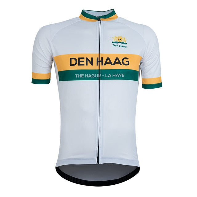 Italy Men Retro Cycling clothing The Hague New Cycling Jersey Bike Team Race Tops Clothing Breathable freeshipping - Grandad shirt club