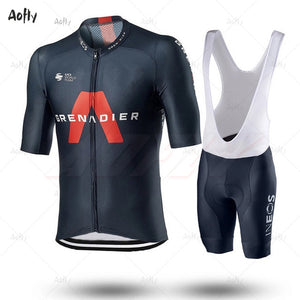 2020 INEOS Grenadier PRO TEAM Men's Cycling Jersey Short Sleeve Bicycle Clothing With Bib Shorts Ropa Ciclismo MTB Wear Maillot - Grandad shirt club