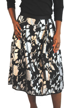Black/Silver Party Skirt