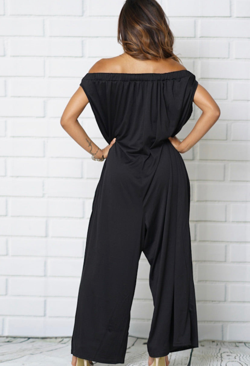 Off the Shoulder Jumpsuit