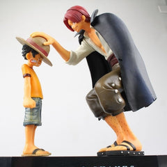 One Piece action figures Anime Straw Hat Luffy Shanks red hair ornaments gift doll toys 17.5cm child luffy models pvc collection