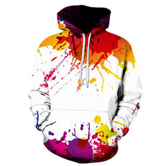 Splashed Paint 3D Hoodies Women Sweatshirts Men Pullover