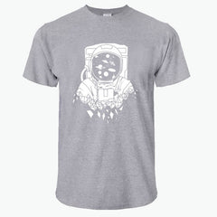 100% cotton digging the moon print casual mens o-neck - ar-sho.com