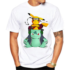 Pokemon Go Men T-shirt Fashion Pikachu Stitch Tops Pikachu - ar-sho.com